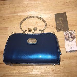 Brangio Italian Luxury Mini Teal Blue Handbag